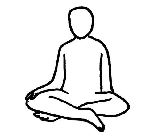 胡座(あぐら)・安座(あんざ) の座位姿勢・座り方イラスト図