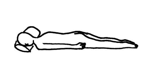 腹臥位(ふくがい) うつ伏せとは 臥床・体位の解説・イラスト図