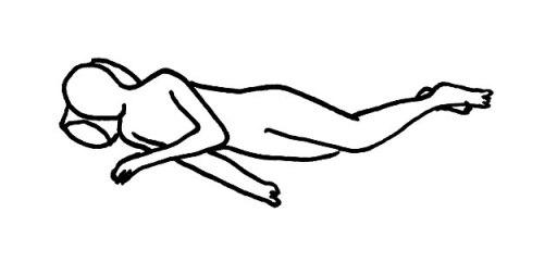 側臥位(そくがい) とは 臥床・体位の解説・イラスト図