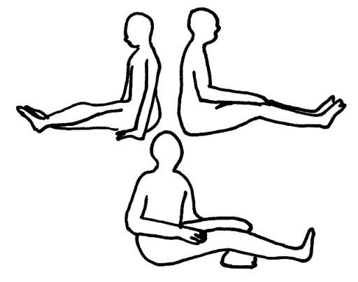 長座位(ちょうざい)とは 座位姿勢・座り方・体位の解説・イラスト図