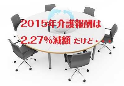 2015年介護報酬2.27%減額