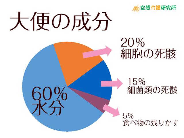 正常な大便(うんち・うんこ) 成分・色・太さ・平均排便量