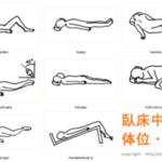 臥位とは 7種類の臥位姿勢の名称