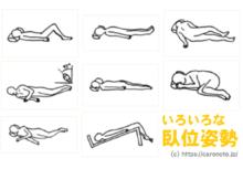 臥位姿勢の種類 7種類の体位の名前と特徴をイラスト解説