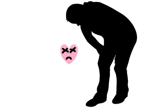 心不全で苦しい人の図