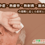 熱中症・熱疲労・熱射病・脱水の段階に応じた症状と対策