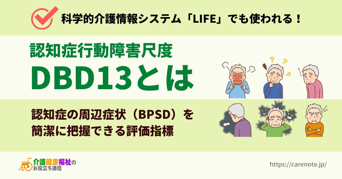 認知症行動障害尺度 DBD13とは 周辺症状(BPSD)の評価指標