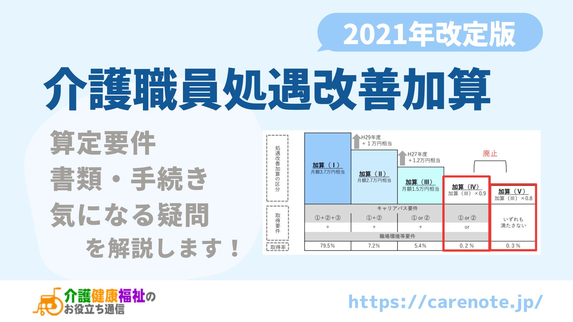 2021年版 介護職員処遇改善加算の書類・手続きを解説